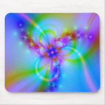Purple Flower With Ribbons Mousemat