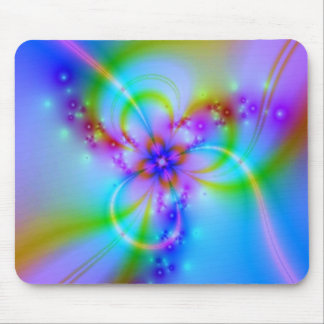 Purple Flower With Ribbons Mouse Pad