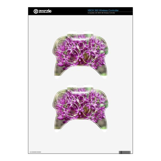 Purple Flower Xbox 360 Controller Decal