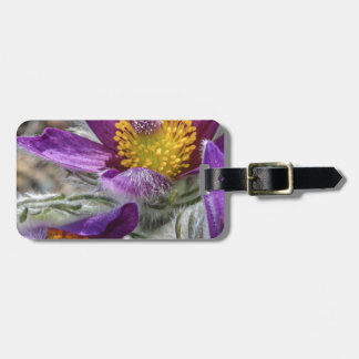 Purple Flower Yellow Stamen Luggage Tag
