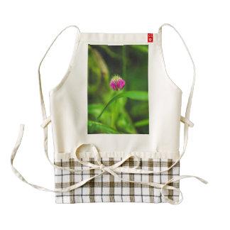 Purple flower zazzle HEART apron