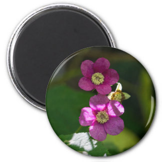 Purple-flowering Raspberry Pink Wildflower Magnet