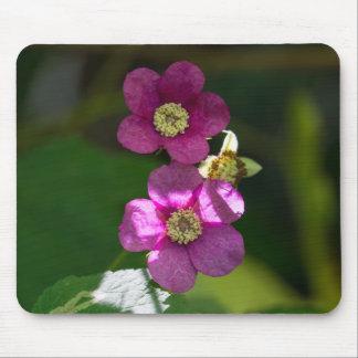 Purple-flowering Raspberry Wildflower Mousepad