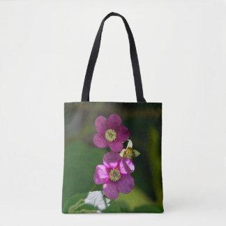 Purple-flowering Raspberry Wildflower Tote Bag