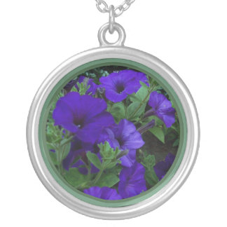 Purple flowers 1 custom necklace