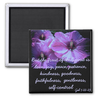 Purple Flowers 2 Inch Square Magnet