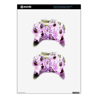 Purple Flowers 3 Xbox 360 Controller Decal