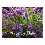 Purple flowers 4.25x5.5 paper invitation card