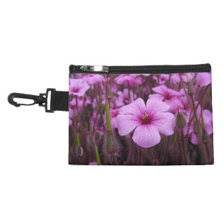 Purple Flowers Accessory Bag