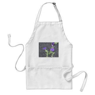 Purple Flowers Adult Apron