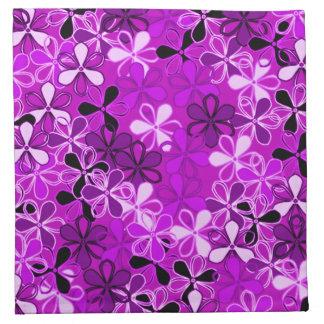Purple Flowers American MoJo Napkin