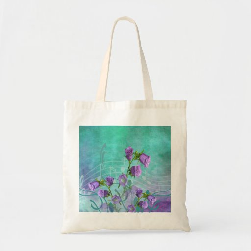 Purple Flowers and Musical Notes Bags