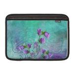 Purple Flowers and Musical Notes MacBook Air Sleeve