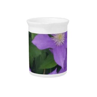 purple flowers beverage pitcher