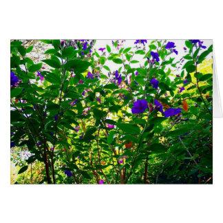 Purple Flowers Blank Note Card