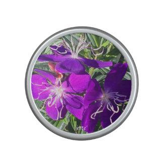 Purple Flowers Bluetooth Speaker