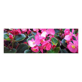 Purple flowers bookmark business card