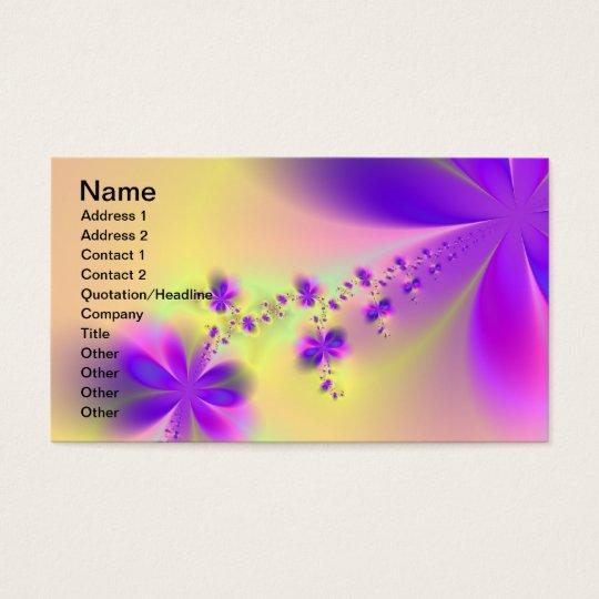 Purple Flowers Business Card