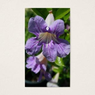 Purple Flowers business cards