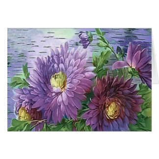 PURPLE FLOWERS by SHARON SHARPE Card