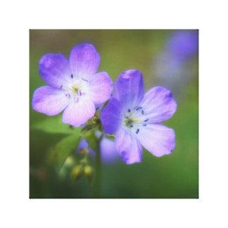 Purple Flowers Gallery Wrap Canvas