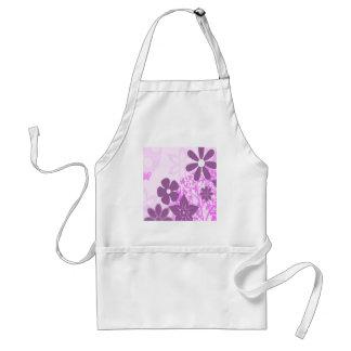 Purple Flowers Daisy Floral Photo Design Adult Apron