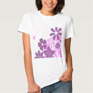 Purple Flowers Daisy Floral Photo Design T-Shirt
