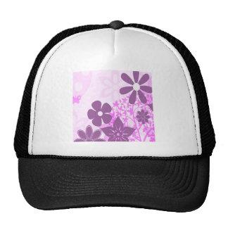 Purple Flowers Daisy Floral Photo Design Trucker Hat