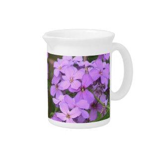 Purple Flowers ( Dame's Rocket)Pitcher Beverage Pitchers