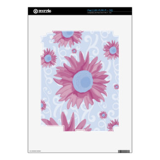 Purple Flowers Decal For The iPad 2