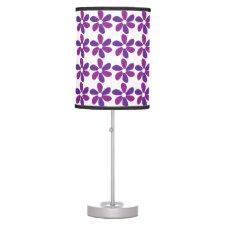 Purple Flowers Desk Lamps