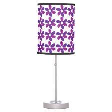 Purple Flowers Desk Lamps