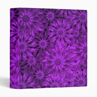 Purple Flowers Digital Art 3 Ring Binder