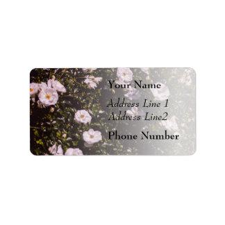 Purple Flowers, Floral Photography Label