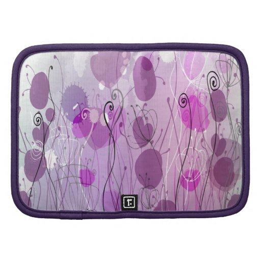 Purple Flowers Folio Planner
