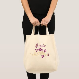 Purple Flowers For Bride Tote Bag