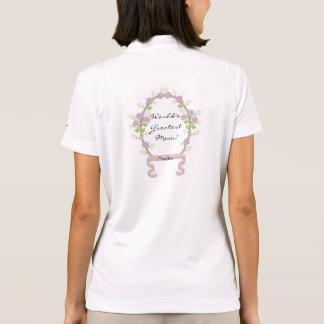 Purple Flowers Frame Pixel Art Polo Shirt