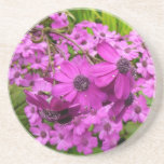Purple Flowers from San Francisco Drink Coaster
