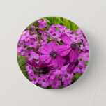 Purple Flowers from San Francisco Pinback Button