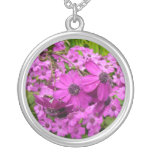 Purple Flowers from San Francisco Silver Plated Necklace