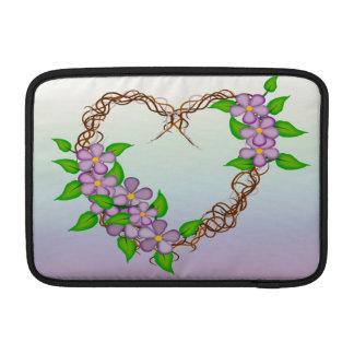 Purple Flowers Grapevine Wreath MacBook Air Sleeves