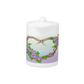 Purple Flowers Grapevine Wreath