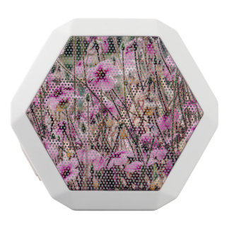 Purple Flowers Growing In A Field, Nature, Floral White Bluetooth Speaker
