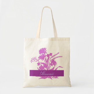 Purple flowers Hawaii reusable souvenir bag