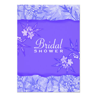 Purple Flowers in Bloom 5x7 Paper Invitation Card