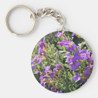 Purple flowers in bloom during Spring Key Chains