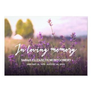 Purple Flowers   In Loving Memory Card