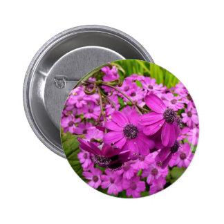 Purple Flowers in San Francisco 2 Inch Round Button