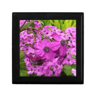 Purple Flowers in San Francisco Jewelry Box