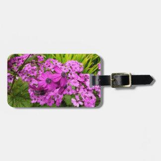 Purple Flowers in San Francisco Bag Tags